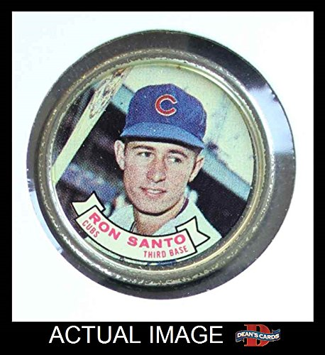 1964 Topps Coins # 68 Ron Santo Chicago Cubs (Baseball Card) Dean's Cards 3 - VG (Chicago Cubs Coin Set)