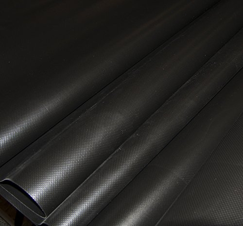 18 Oz Black Vinyl Polyester - Vinyl Fabric, 36
