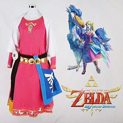 The Legend of Zelda Princess Zelda Childhood Quality Cosplay Costume_Full Set