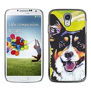 Be Good Phone Accessory // Dura Cáscara cubierta Protectora Caso Carcasa Funda de Protección para Samsung Galaxy S4 I9500 // Corgi Lancashire Heeler Art Black Dog