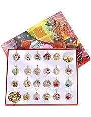 MIFASA Kerstornamenten om op te hangen, cadeauset ter decoratie van de kalender, accessoires voor halsketting met armband voor het ophangen van kerstdecoraties