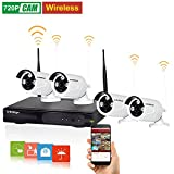 Cheap KAREye 720P 4CH NVR Kits Wireless IP Network Camera System Video Surveillance Kits with 4 of 720P Outdoor IR Bullet IP66 Camera,White
