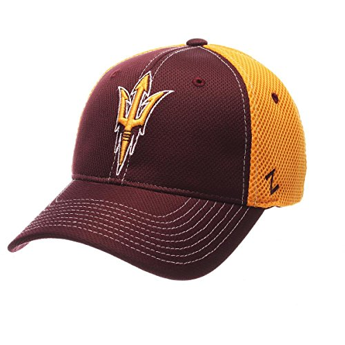 NCAA Arizona State Sun Devils Men's Rally Z-Fit Cap, Medium/Large, Maroon/Gold ()