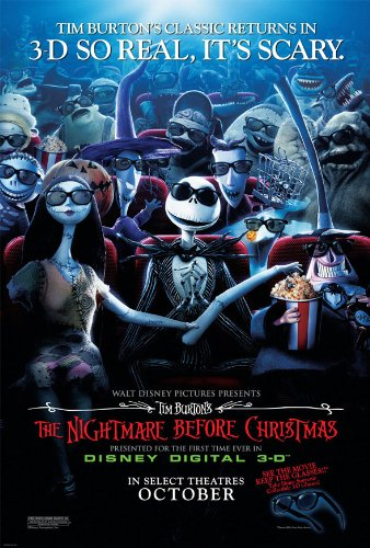 Amazon.com: NIGHTMARE BEFORE CHRISTMAS 3D MOVIE POSTER 2 Sided ...