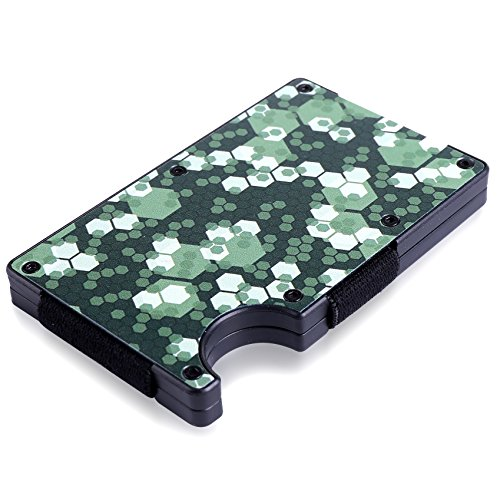 Aluminum Wallet With Money Clip For Men And Women By Alumoyz: Minimalist Camouflage Design For Front Pocket, Slim Cardholder With RFID Blocking For Identity Theft Protection, For Cards And Cash
