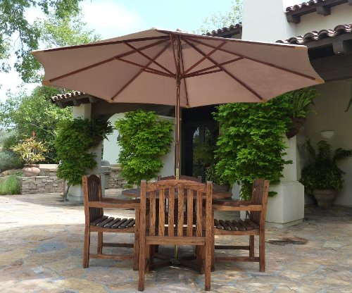 Formosa Covers Replacement Umbrella Canopy for 11ft 8 rib Market Outdoor  Patio Shades in Taupe Ribs length 64