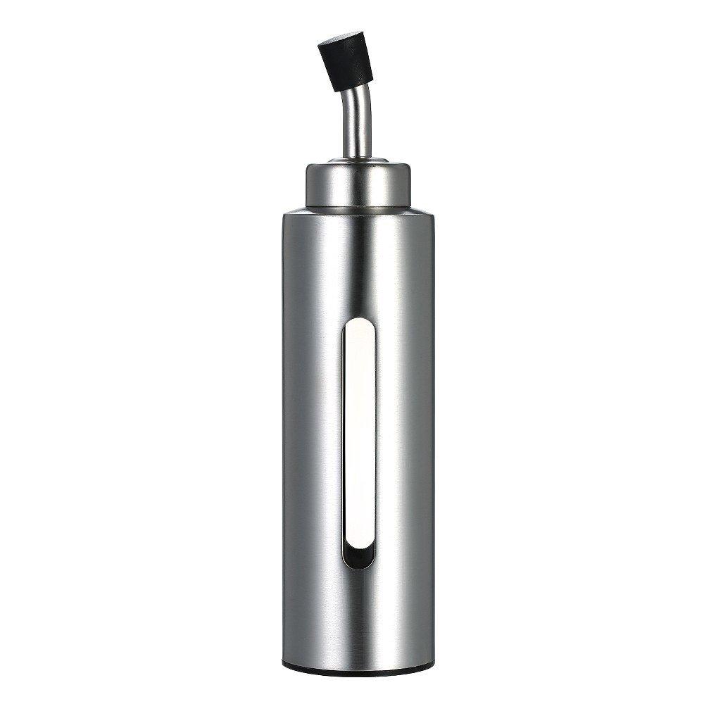 Oil&Vinegar Dispenser, Disumos Cruet Stainless Steel Olive Oil Sauce Pourer Dispensing Bottle Leak-proof Container for Kitchen 200ml/7oz