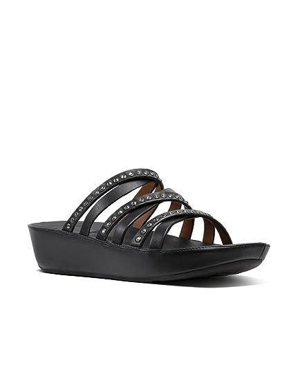 ff08de3cfe3 Fitflop Women s Linny Open Toe Sandals Black  Amazon.co.uk  Shoes   Bags