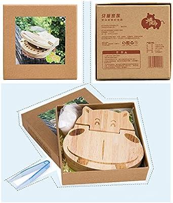 Decent Gadget® duradero dientes del bebé Guardar Cajas de madera ...