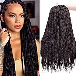 Ronsaen Box Braids Crochet Hair 100% Kanekalon Crochet Box Braids