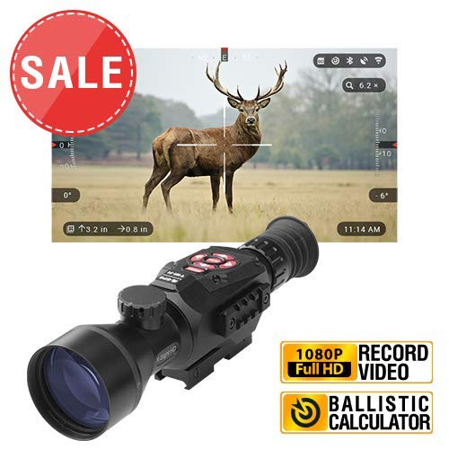 TheOpticGuru ATN X-Sight-II Smart Day/Night Hunting Rifle Scope with Full HD Video rec, WiFi, GPS, Smooth Zoom and Smartphone Controlling Thru iOS or Android Apps (5-20x)