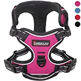 Dog Harness No-Pull Pet Harness Adjustable Outdoor Pet Vest 3M Reflective Oxford Material Vest for Dogs Easy Control for Small Medium Large Dogs(Pink,XL)