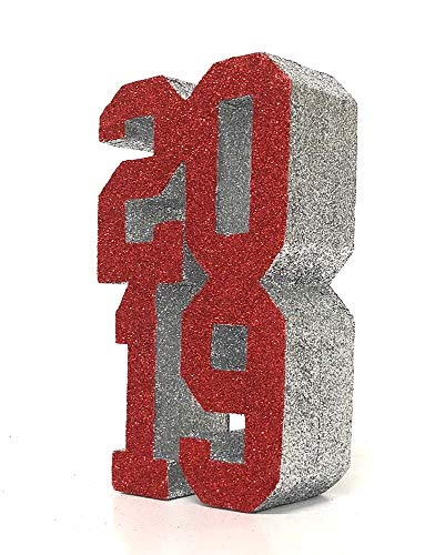 Graduation Centerpiece (Red/Silver) -