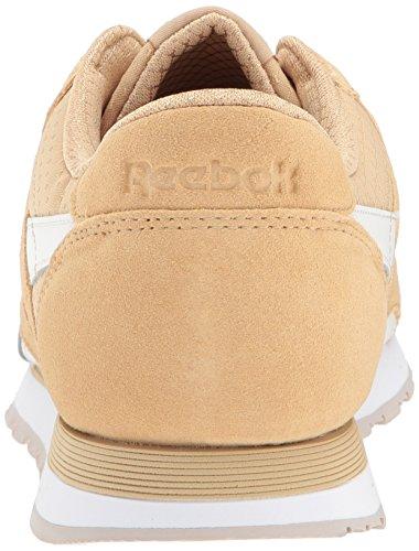 Reebok Mens Rs En Nylon Cl Baskets Mode Beige / Craie / Blanc / Pierre De Sable