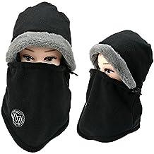 Balaclava Fleece Hood, MingHaidi Windproof Outdoor Ski Face Mask and Hats for Snowborading, Skiing, Climbing, Riding, Cycling, Extreme Sports