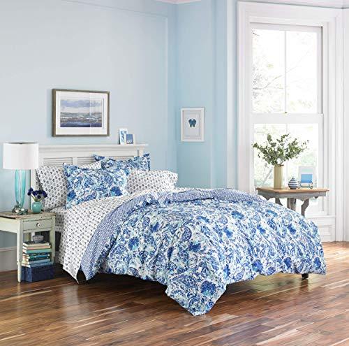 Poppy & Fritz Brooke Cotton Comforter Set, King, Blue