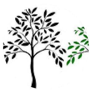 alfombrilla de ratón Ilustración de la silueta del árbol - ronda - 20cm