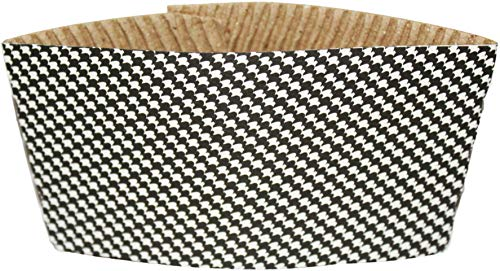Hot Cup Sleeve Set By Golden Spoon: Hot Mug Holder Jackets For All Hot And Cold Beverages, Stylish Design For Protection Against Hot Temperatures, Matches All Cups, Coffee, Tea And Chocolate (50 Pack)