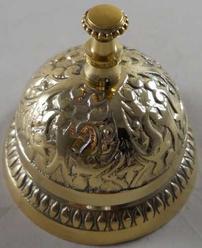 1 X Solid Brass Victorian Style Service Desk Bell by MGSIO (Image #1)
