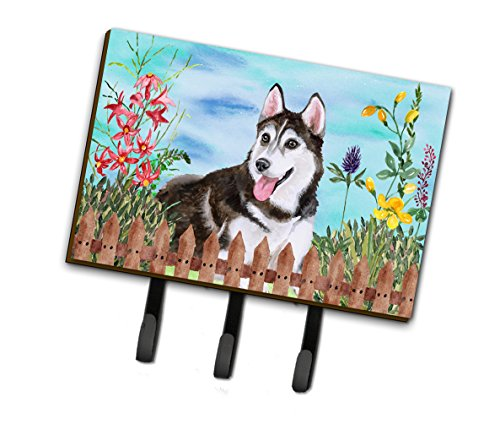 (Caroline's Treasures Siberian Husky #2 Spring Wall Hook, Triple,)