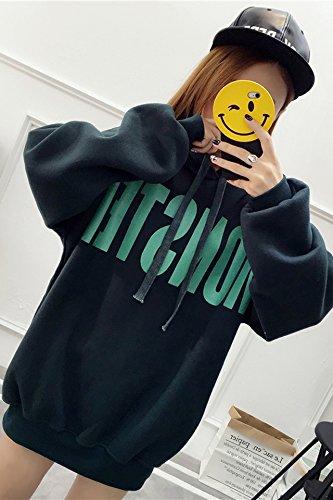 New autumn and winter hooded sweater female Korean student hedging wide prednisone plus thick velvet hooded female models in long coat for women girl