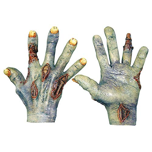 Fun Express - Zombie Undead Latex Hands for Halloween - Apparel Accessories - Costume Accessories - Costume Props - Halloween - 1 Piece -