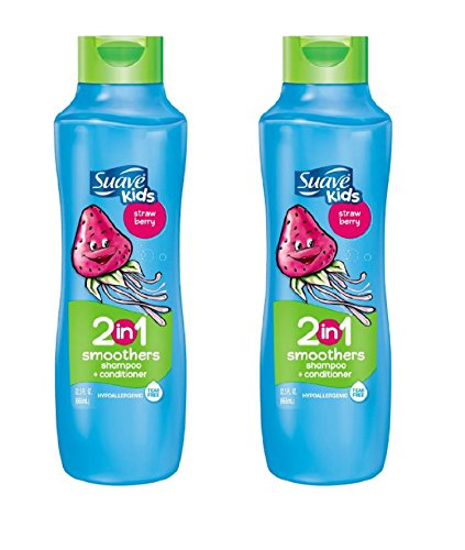 Suave Kids 2 in 1 Shampoo & Conditioner, Strawberry 22.5 oz (Pack of 2)