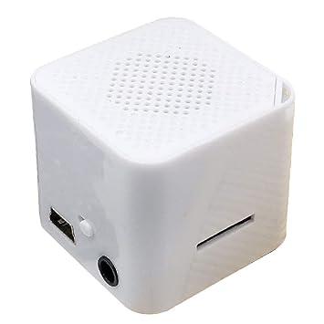 NoyoKere El Mini Reproductor de música portátil con MP3 de pequeño Altavoz Externo admite Tarjetas Micro SD/TF/USB