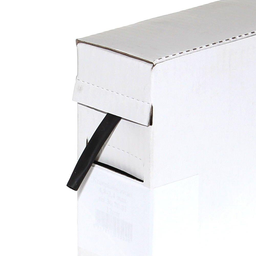 5m Schrumpfschlauch 9,5mm auf 4,8mm schwarz KFZ Spenderbox Werkstatt
