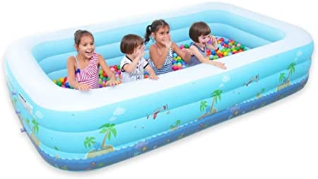Geng Piscinas hinchables Piscina Inflable/Anti-Fuga al Aire Libre Familia Rectangulares Piscina for niños for niños y Adultos (Size : 201x156x68CM): Amazon.es: Hogar