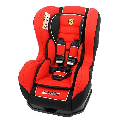 Autositz Ferrari Gruppe 0+/1von 0bis 18kg mit Protektoren seitliche-Herstellung 100% Französische-3Sterne Test TCS-CALE Kopf und Sitzfläche gepolstert.