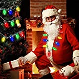 LED Christmas Bulb Necklace Light Up Party Favors 9