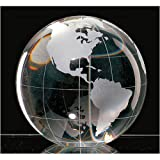 """3.25"""""""" Globe Crystal Paperweight"""