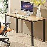 CUBOC 47'' Large Size Modern Computer Desk Long Office Desk Writing Desk, Workstation Table for Home Office, Beech