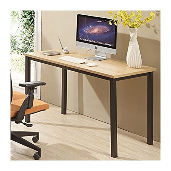 """CUBOC 47"""" Large Size Modern Computer Desk Long Office Desk Writing Desk, Workstation Table for Home Office, Beech - 47""""L x 23.7''H wide desktop provide enough space to keep a computer, laptop and scatter things around Clean, minimalist design with an open-air style gives your office or home office a sleek, contemporary look 0.98"""" thick desktop is waterproof and anti- scratch, assuring you that maintaining it in excellent condition will be a piece of cake - writing-desks, living-room-furniture, living-room - 51CwaOoIqiL. SS570  -"""