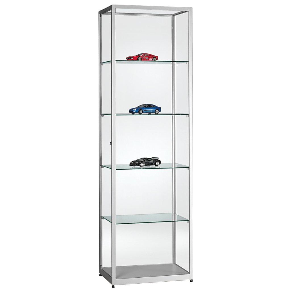 vitrine glasvitrine standvitrine sammlervitrine eco 600 alu glas abschlie bar kaufen. Black Bedroom Furniture Sets. Home Design Ideas