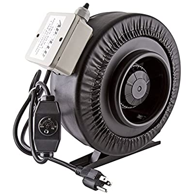 "Apollo Horticulture 6"" Inch Inline Duct Fan with Built In Variable Speed Controller - Choose Your Fan"