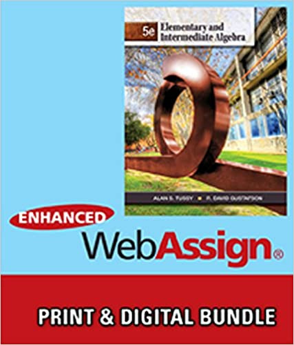 Bundle elementary and intermediate algebra 5th webassign textbook access code bundle fandeluxe Image collections