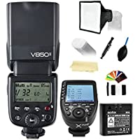 Godox Ving V850II GN60 2.4G 1/8000s HSS Camera Flash Speedlight+Godox XPro-C E-TTL Wireless Flash Trigger Transmitter Compatible Canon Cameras+2000mAh Li-ion Battery