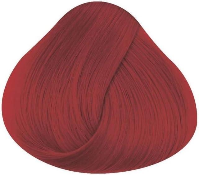 Tinte para el pelo de Directions, semipermanente, color rojo bermellón; tinte vegano, no testado en animales