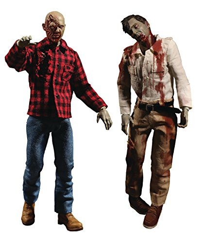 Mezco Toys One: 12 Collective: Dawn of The Dead Fly Boy & Plaid Zombie Action Figure 2 Pack -