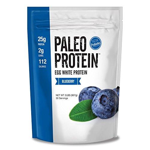 Paleo Protein Powder Blueberry (Egg Whites) (2lbs) (Soy Free) w/Monk Fruit