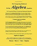The Transposing Method of Solving ALGEBRA Equations, Wayne Matson and Hoover, 1453865713