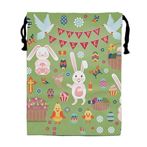 Easter Bags Candy Bags Drawstring Gift Sack Pumpkin Bag