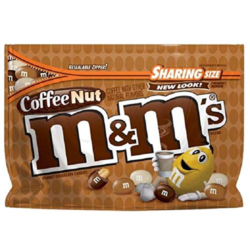 M&M New Flavor Chocolate Candy Sharing Size Pack (Coffee Nut)