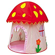 Amasky(tm) Beautiful Children Game Play Tent , Mushroom Shape, Great for Indoor and Outdoor (Mushroom shape)