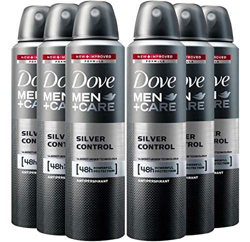 6 Pack Dove Men+Care Deodorant Silver Control Spray 48 Hr. Protection 150 ML in USA