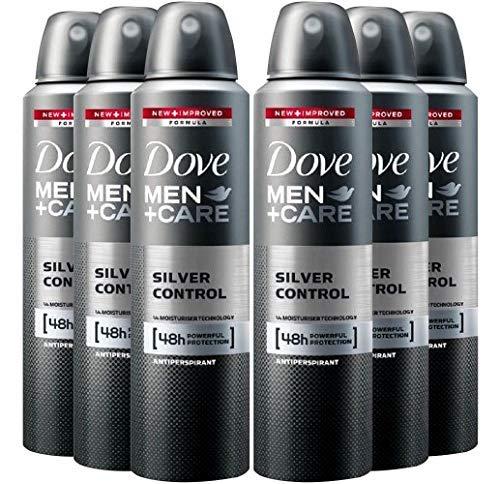 6 Pack Dove Men+Care Deodorant Silver Control Spray 48 Hr. Protection 150 ML