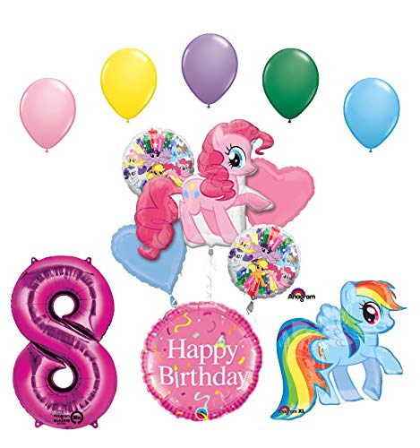 Mayflower Products My Little Pony Pinkie Pie and Rainbow Dash 8th Birthday Party Supplies and Balloon Decorations]()