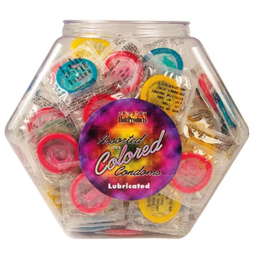 Asst. Colored Condoms 144 Bowl ---(Package Of 2) by Hott Products Unlimited